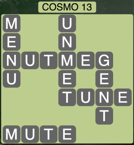 Wordscapes Cosmo 13 (Level 1373) Answers