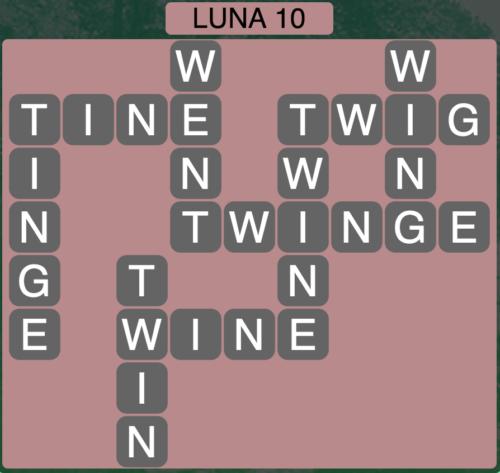 Wordscapes Luna 10 (Level 1386) Answers