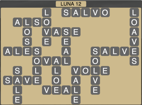 Wordscapes Luna 12 (Level 1388) Answers