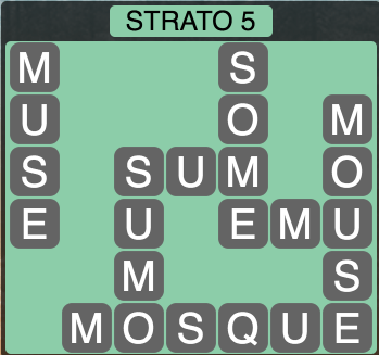 Wordscapes Strato 5 (Level 1397) Answers
