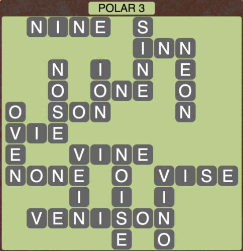 Wordscapes Polar 3 - Level 1411 Answers