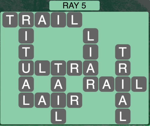 Wordscapes Ray 5 - Level 1445 Answers