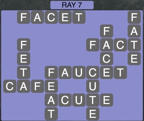 Wordscapes Ray 7 - Level 1447 Answers