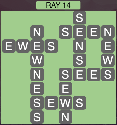 Wordscapes Ray 14 - Level 1454 Answers