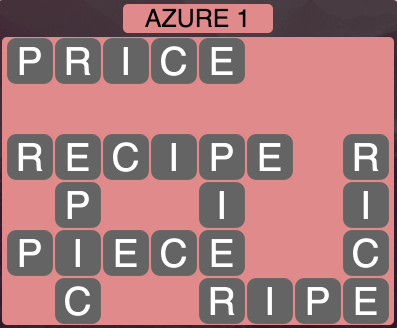 Wordscapes Azure 1 - Level 1457 Answers