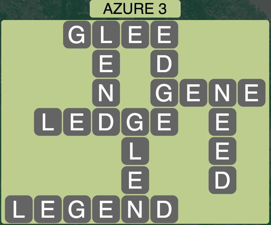 Wordscapes Azure 3 - Level 145...