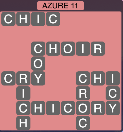 Wordscapes Azure 11 - Level 1467 Answers