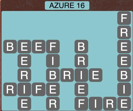 Wordscapes Azure 16 - Level 1472 Answers