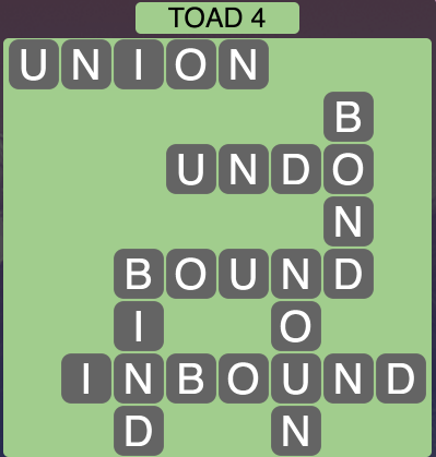Wordscapes Toad 4 - Level 1476 Answers