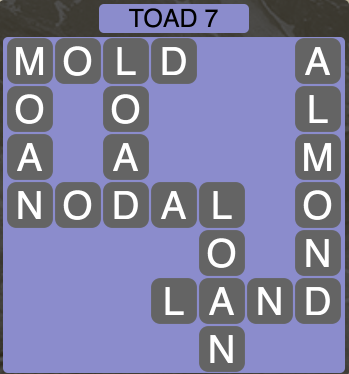 Wordscapes Toad 7 - Level 1479 Answers