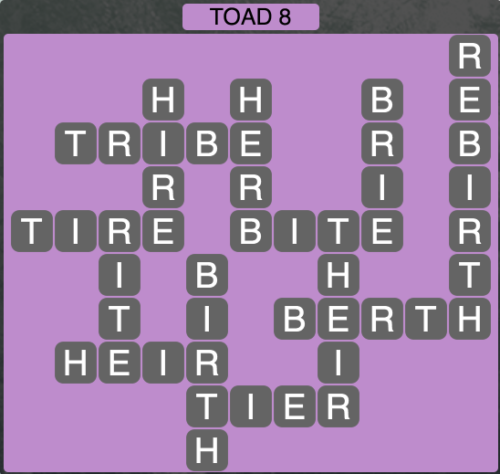 Wordscapes Toad 8 - Level 1480 Answers