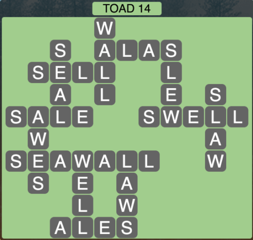 Wordscapes Toad 14 - Level 1486 Answers