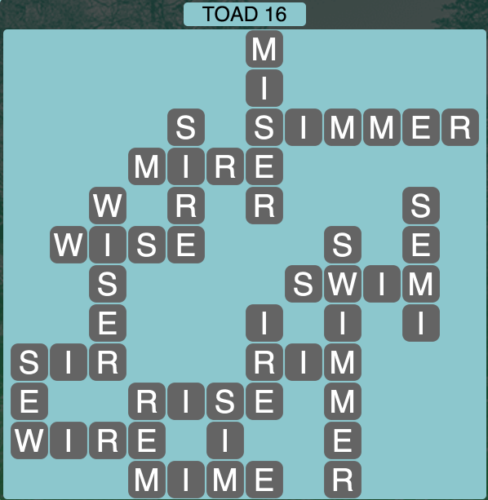 Wordscapes Toad 16 - Level 1488 Answers