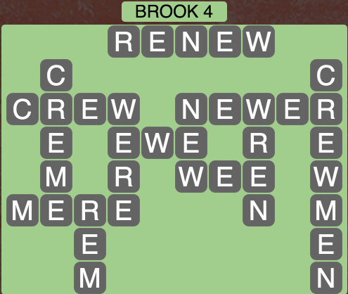 Wordscapes Brook 4 - Level 1492 Answers