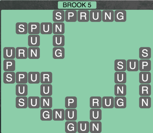 Wordscapes Brook 5 - Level 1493 Answers
