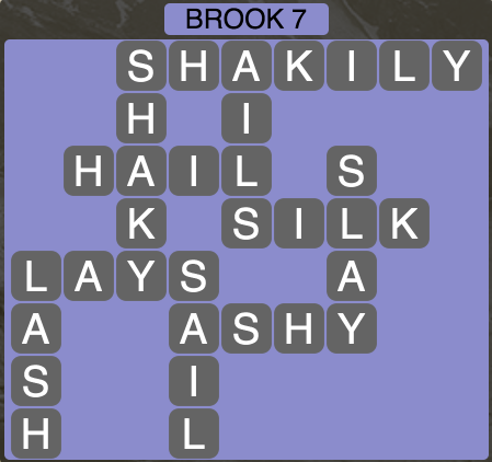 Wordscapes Brook 7 - Level 1495 Answers