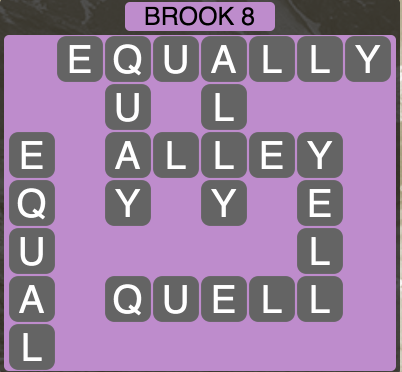 Wordscapes Brook 8 - Level 1496 Answers