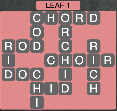 Wordscapes Leaf 1 - Level 1505 Answers