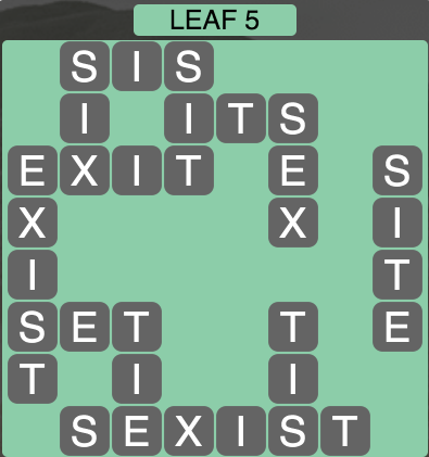 Wordscapes Leaf 5 - Level 1509 Answers