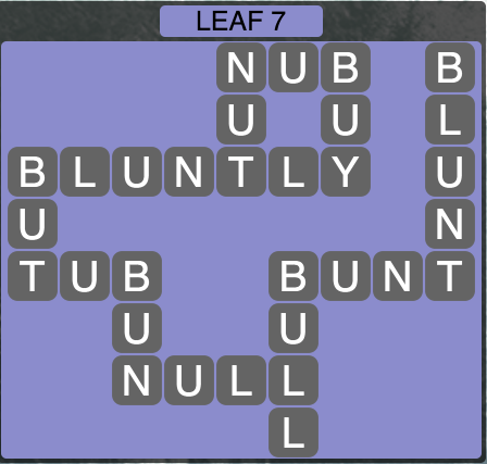 Wordscapes Leaf 7 - Level 1511 Answers