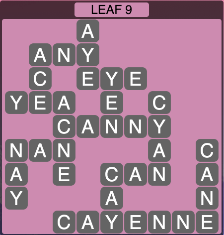 Wordscapes Leaf 9 - Level 1513 Answers