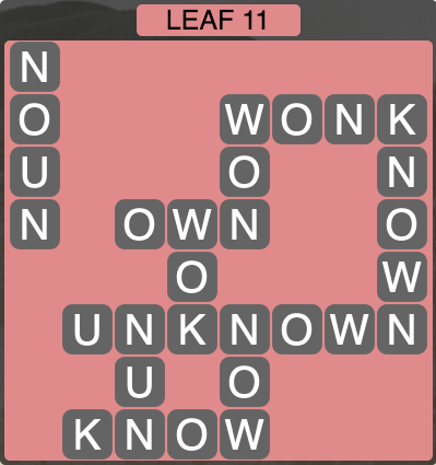 Wordscapes Leaf 11 - Level 1515 Answers