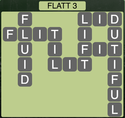 Wordscapes Flatt 3 - Level 1523 Answers