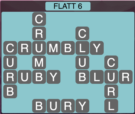 Wordscapes Flatt 6 - Level 1526 Answers