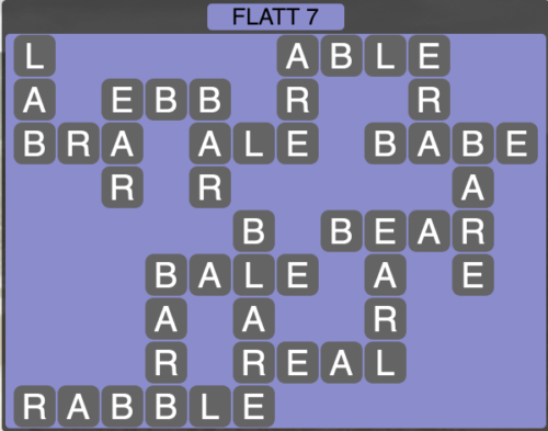 Wordscapes Flatt 7 - Level 1527 Answers