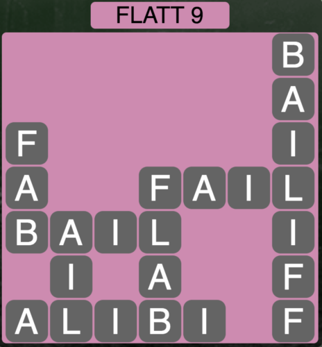 Wordscapes Flatt 9 - Level 1529 Answers