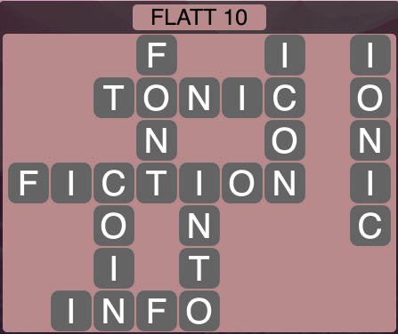 Wordscapes Flatt 10 - Level 1530 Answers