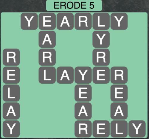 Wordscapes Erode 5 - Level 1541 Answers