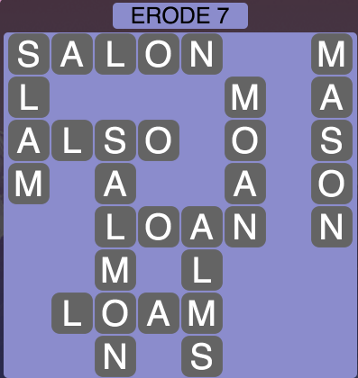 Wordscapes Erode 7 - Level 1543 Answers