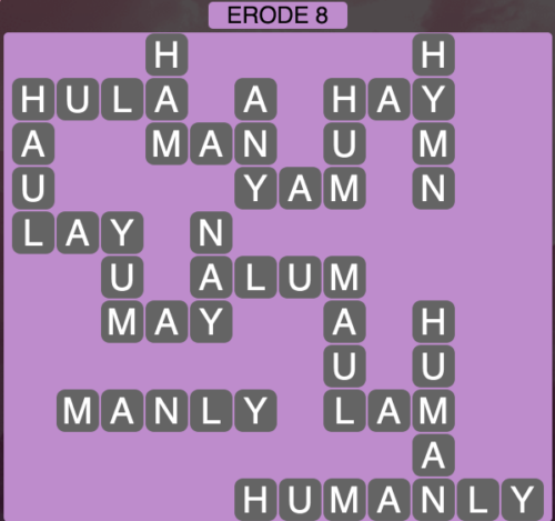 Wordscapes Erode 8 - Level 1544 Answers
