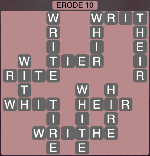 Wordscapes Erode 10 - Level 1546 Answers