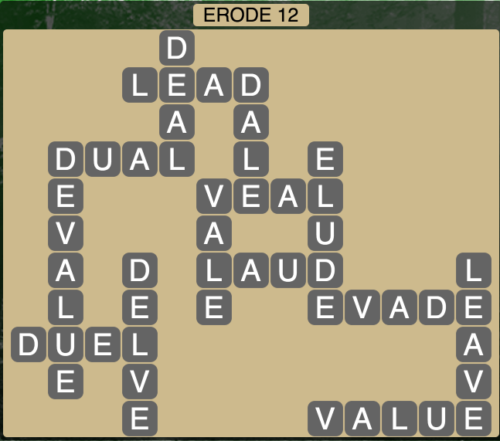 Wordscapes Erode 12 - Level 1548 Answers