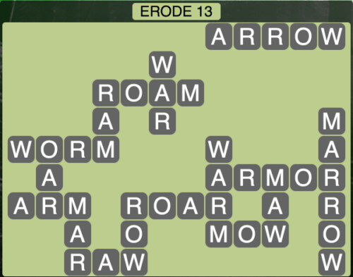 Wordscapes Erode 13 - Level 1549 Answers