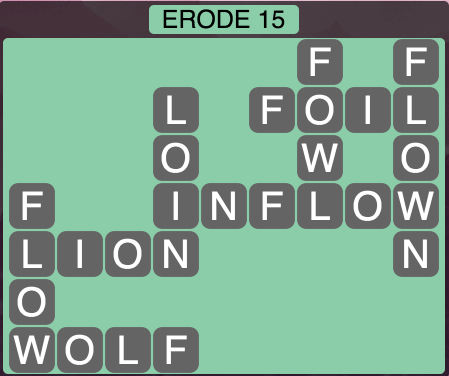 Wordscapes Erode 15 - Level 1551 Answers