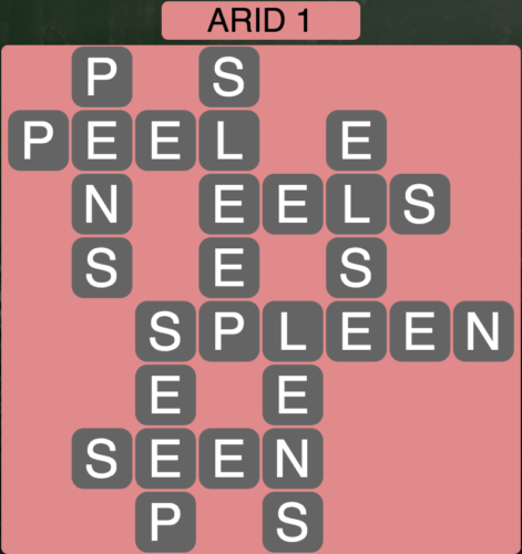 Wordscapes Arid 1 - Level 1553 Answers