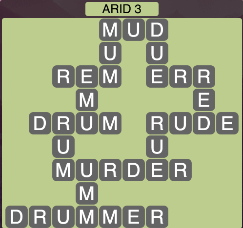 Wordscapes Arid 3 - Level 1555 Answers