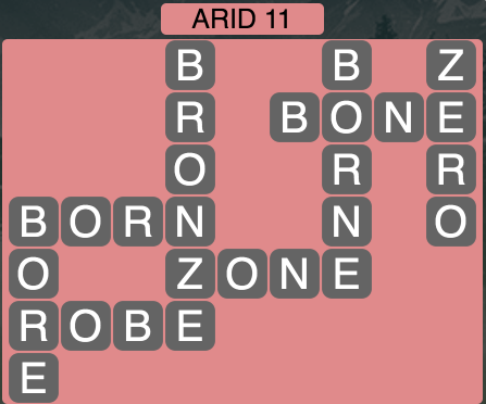 Wordscapes Arid 11 - Level 1563 Answers