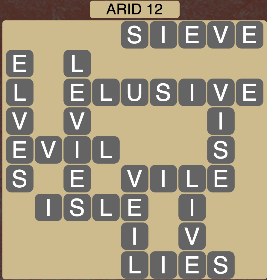 Wordscapes Arid 12 - Level 1564 Answers