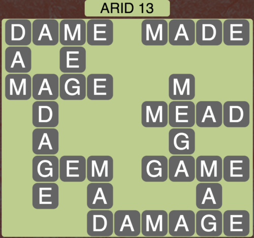 Wordscapes Arid 13 - Level 1565 Answers