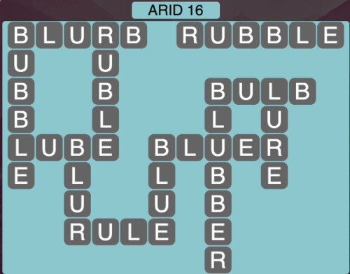 Wordscapes Arid 16 - Level 1568 Answers