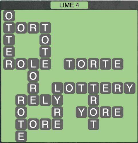 Wordscapes Lime 4 - Level 1572 Answers