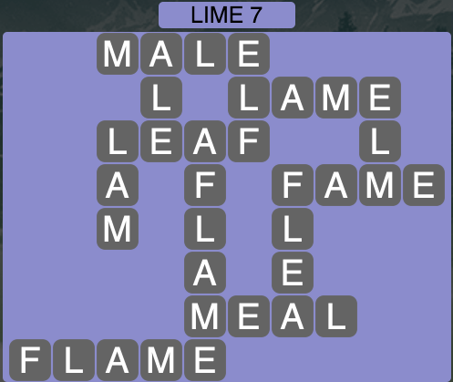 Wordscapes Lime 7 - Level 1575 Answers