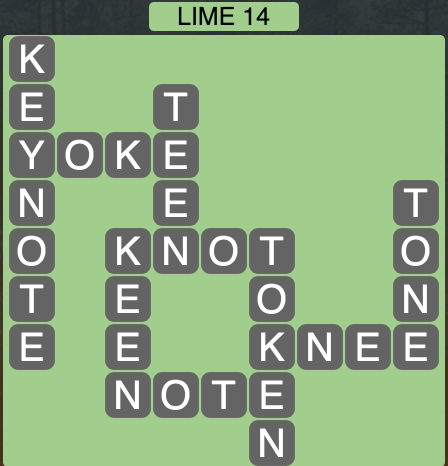Wordscapes Lime 14 - Level 1582 Answers