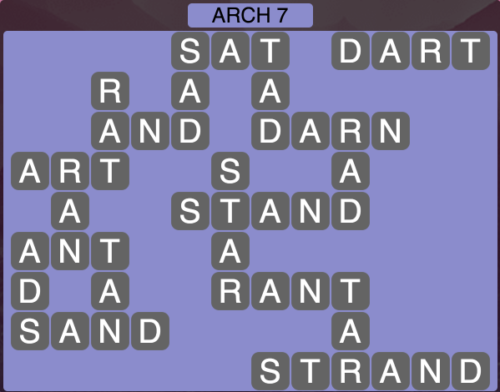 Wordscapes Arch 7 - Level 1591 Answers