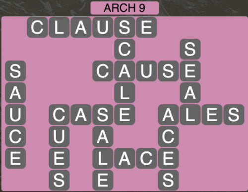 Wordscapes Arch 9 - Level 1593 Answers