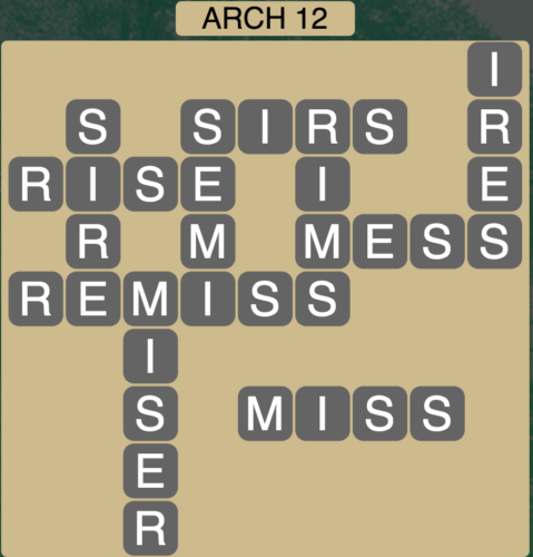 Wordscapes Arch 12 - Level 1596 Answers